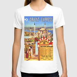 Orient Express, Istanbul — retro vintage travel poster T-shirt