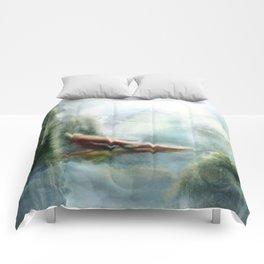 Flight through the Mountains Comforters