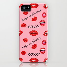 Sequin Valentine Lips iPhone Case