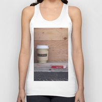 cigarettes Tank Tops featuring Cigarettes and coffee by RMK Creative