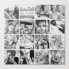 before the big, deep, dark sleep Canvas Print