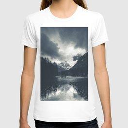 Darkness and rain at Zgornje Jezersko, Slovenia T-shirt