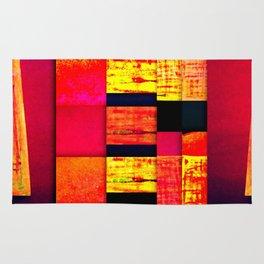 pattern black red pink orange Rug