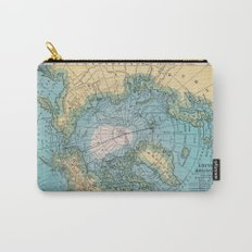 Vintage Arctic Map Carry-All Pouch