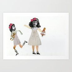 Little girls Art Print