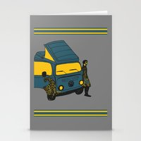 van Stationery Cards featuring Van by AndaLouz