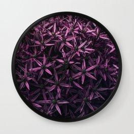 Allium Flower Wall Clock