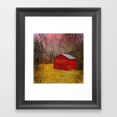 West Virginia Red Barn Framed Art Print