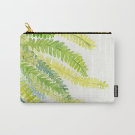 Fern Leaves Watercolor Carry-All Pouch