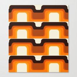 Mid-Century Modern Meets 1970s Orange Canvas Print