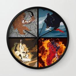 The Elemental Fiends Wall Clock