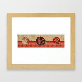 Flora Triptic Framed Art Print