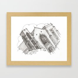 Oa[k]cliff Temple Framed Art Print