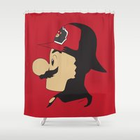 mario Shower Curtains featuring Mario Firefighter by DonCorgi