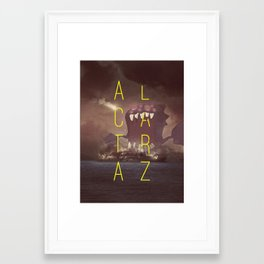 Destruction Series - Alcatraz Framed Art Print