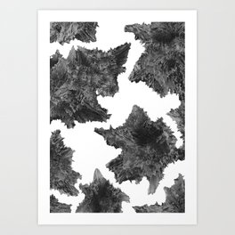 Asteroids are talking Art Print
