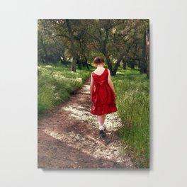 Solitary Walk. © J&S Montague. Metal Print