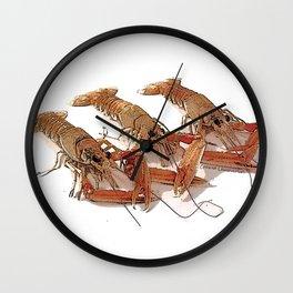 Fresh Cornish Langoustines Wall Clock