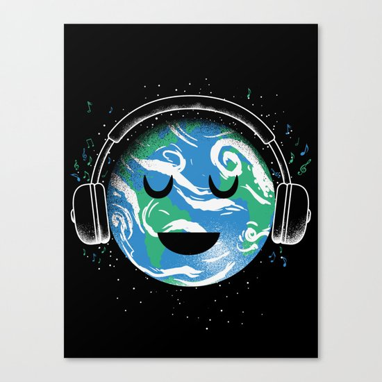 The whole planet loves music Canvas Print
