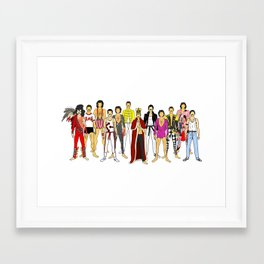 Freddie Line Up Framed Art Print