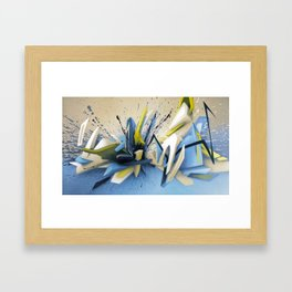 Cold Mountain View Framed Art Print