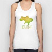 ukraine Tank Tops featuring Ukraine by Stephanie Wittenburg