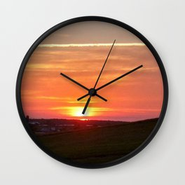 Sunset at Mastodon Ridge Wall Clock