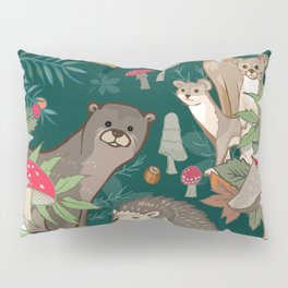 Animals In The Woods Pillow Sham