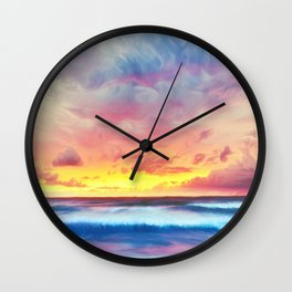 Lonas planet stormy evening Wall Clock