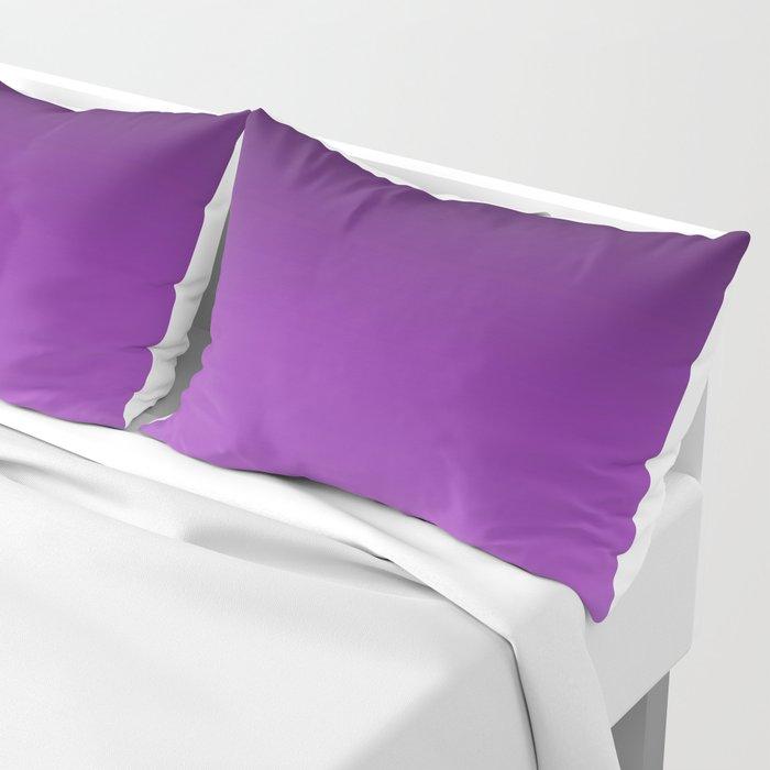 Dark Purple Ombre Pillow Sham