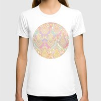 deco T-shirts featuring Rosy Opalescent Art Deco Pattern by micklyn