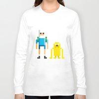 jake Long Sleeve T-shirts featuring Finn & Jake by Pahito