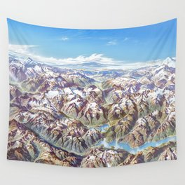 Heinrich Berann - Panoramic Painting of the North Cascades (1987) Wall Tapestry