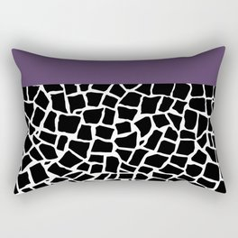 British Mosaic Purple Boarder Rectangular Pillow