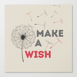 Make a wish red Canvas Print