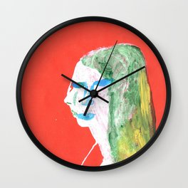 Helga in profile in full face Wall Clock