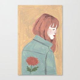 Chrysanthemum Jacket Canvas Print
