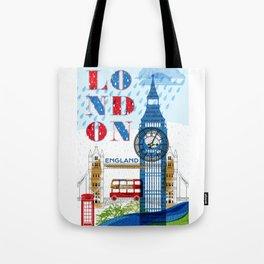 London Travel Tote Bag