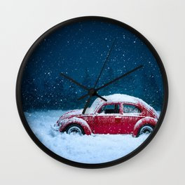 Winter Toy Car Wall Clock