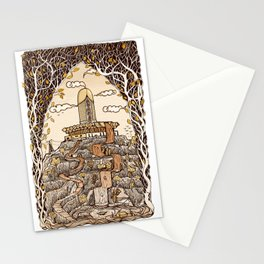 Fountain of happiness Stationery Cards