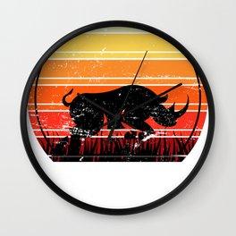 Rhino Retro Wall Clock