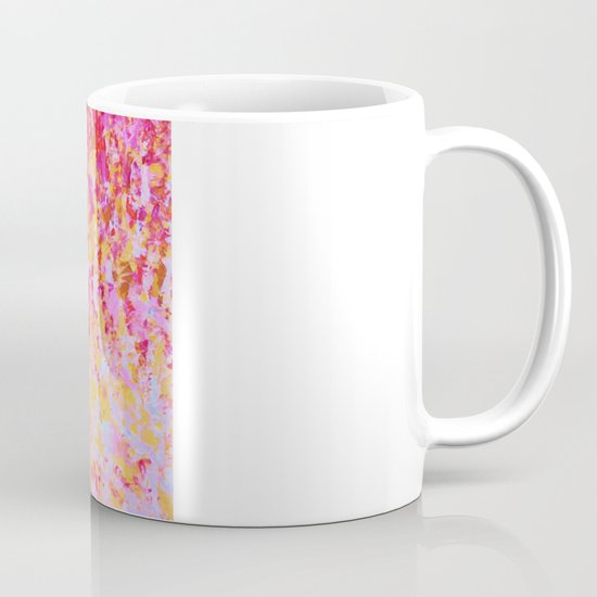 ROMANTIC DAYS - Lovely Sweet Romance, Valentine's Day Sweetheart Pink Red Abstract Acrylic Painting Mug