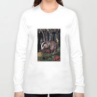 badger Long Sleeve T-shirts featuring badger by ahatom