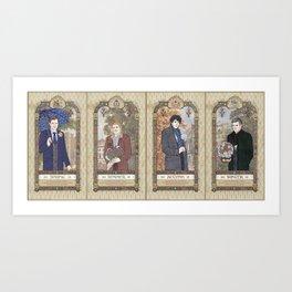 Sherlock Victorian Language of Flowers Four Seasons Art Print