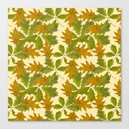 Leaves Camouflage Pattern Canvas Print
