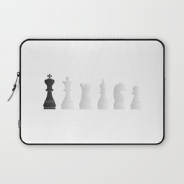 All white one black chess pieces Laptop Sleeve