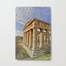 Agrigento and the Valley of the Temples Metal Print