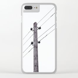 Old Utility pole Clear iPhone Case