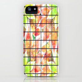 abstract floral background iPhone Case