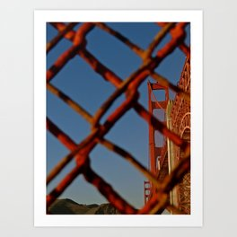 Security Comes First - Golden Gate Bridge Art Print